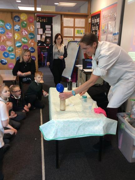 We had a visit from Dr Concoctor for Science Week!
