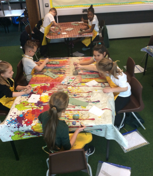 For remembrance day we painted Poppies on stones for our memorial garden.