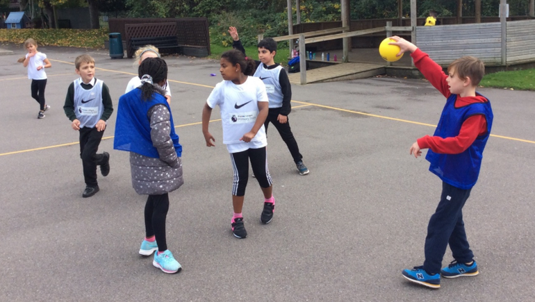 In another P.E. lesson we learnt how to play Handball.