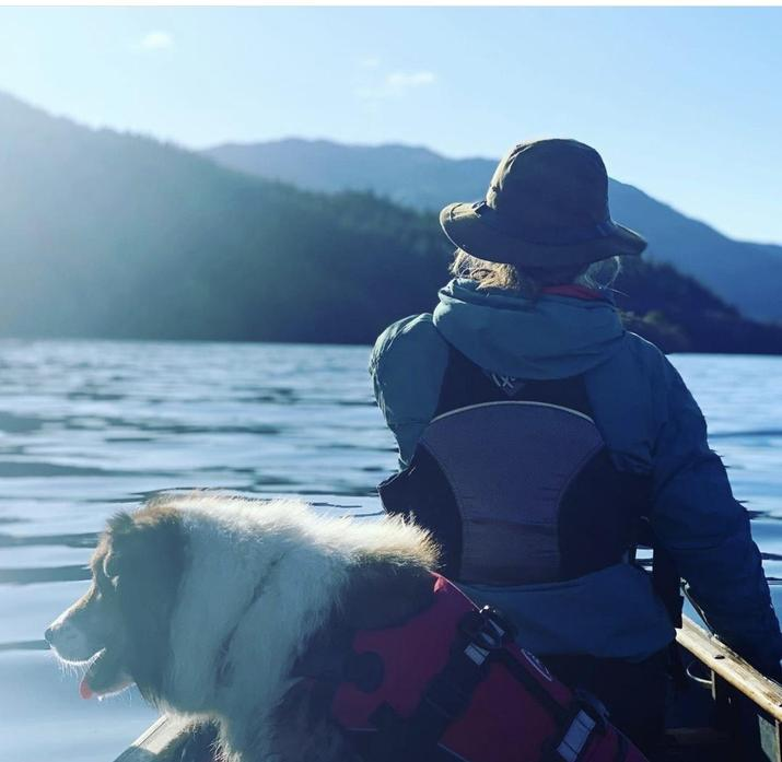 Finn the dog likes going on adventures too