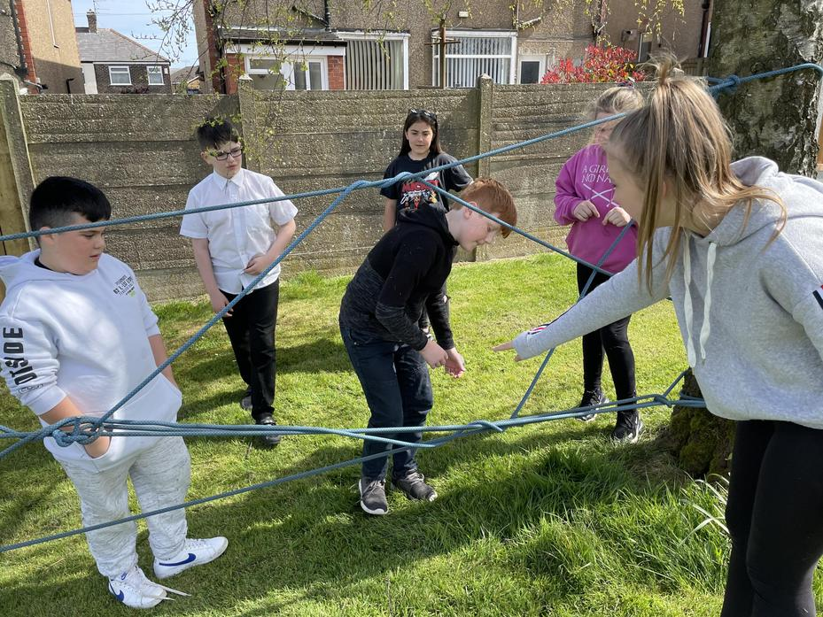 Team work is needed to get through the spiders web