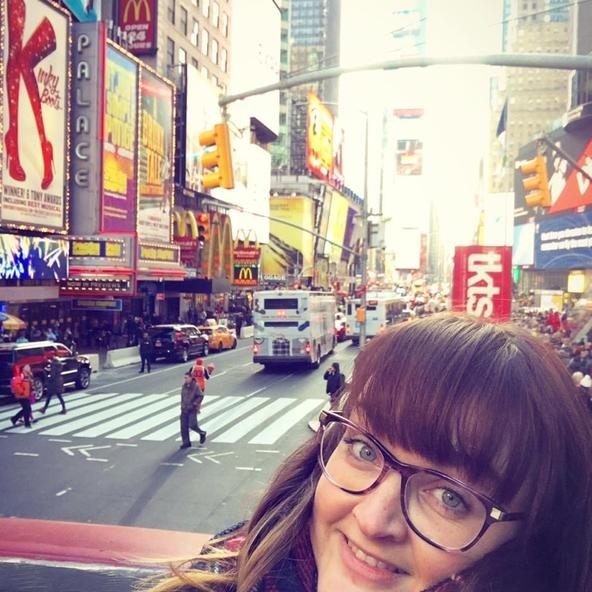 Time Square, New York! It was very freezing!