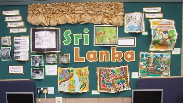 Work from a school in Sri Lanka