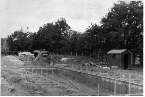 Swimming Pool opened Sept 1960