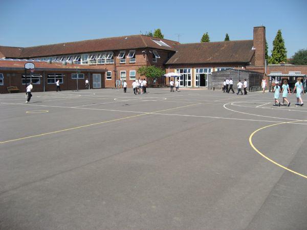 Years 5 and 6 playground