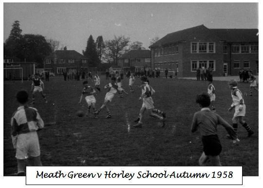 Meath Green v Horley School Autumn 1958