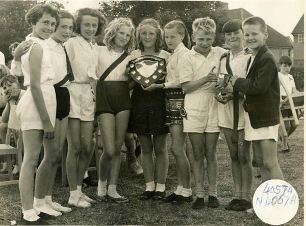 meath Green School-sports day winners-circa 1960