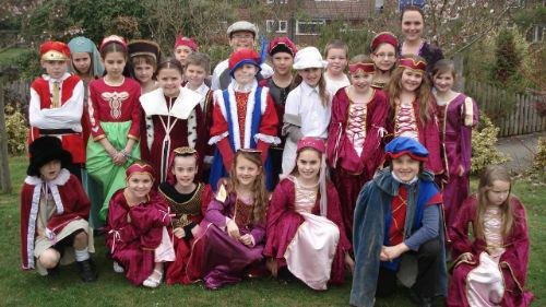Year 5 enjoying their Tudor Day