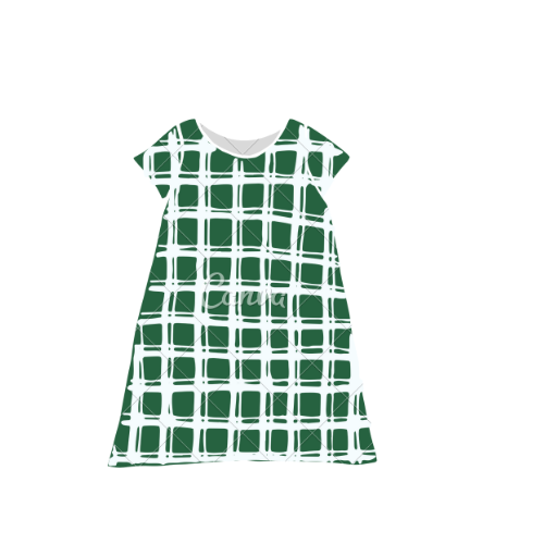 Green Check Dress
