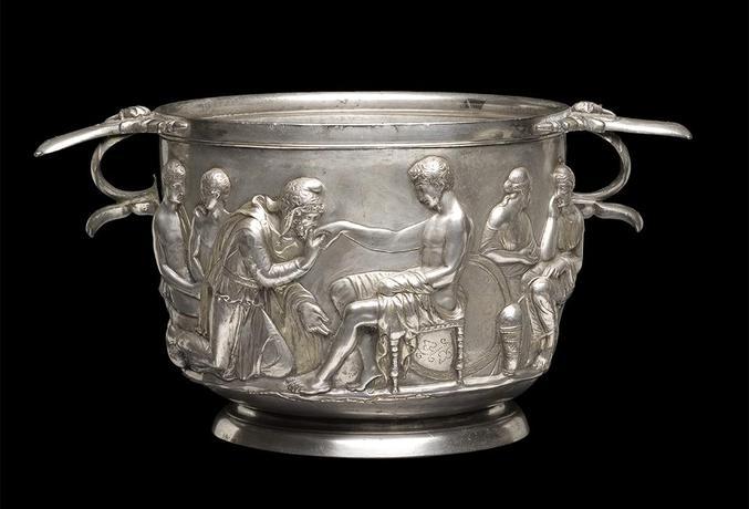 Priam & Achilles, Roman silver cup, 1st century AD