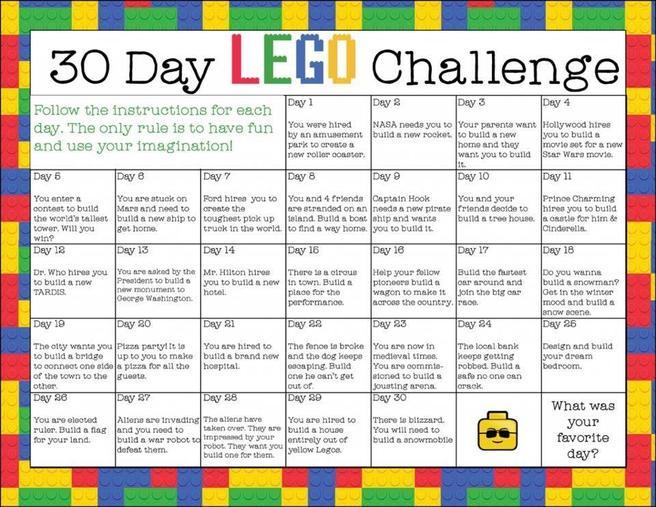 30 day Lego challenge!