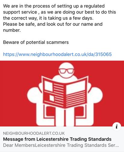 Beware of scamming!