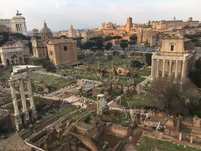 The Roman Forum. (Credit: S. Bristow)
