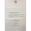 A letter from the Queen