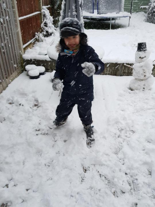 Having fun in the snow!