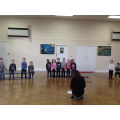 Practising for our nativity play