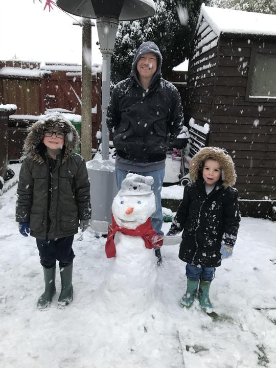 A family snowman!