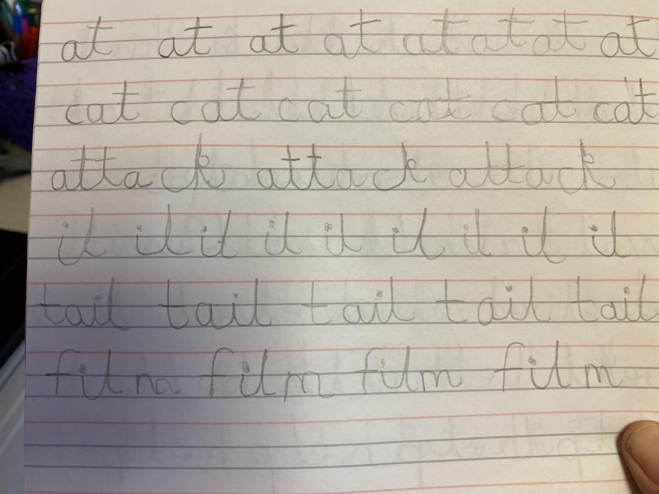 Ryan's handwriting 1.3.21