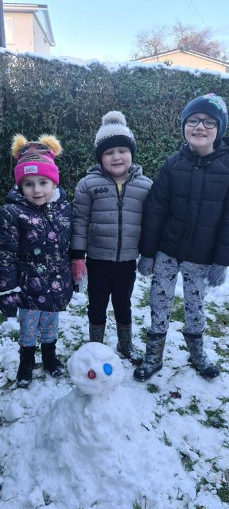 His family's snowman