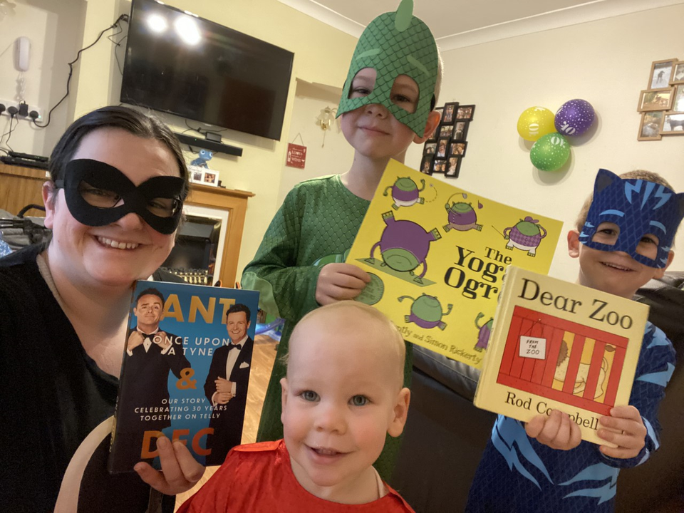 Ryan's family dressing up for World Book Day!