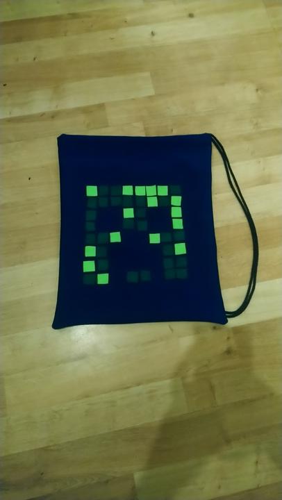 Jacob's minecraft bag he made
