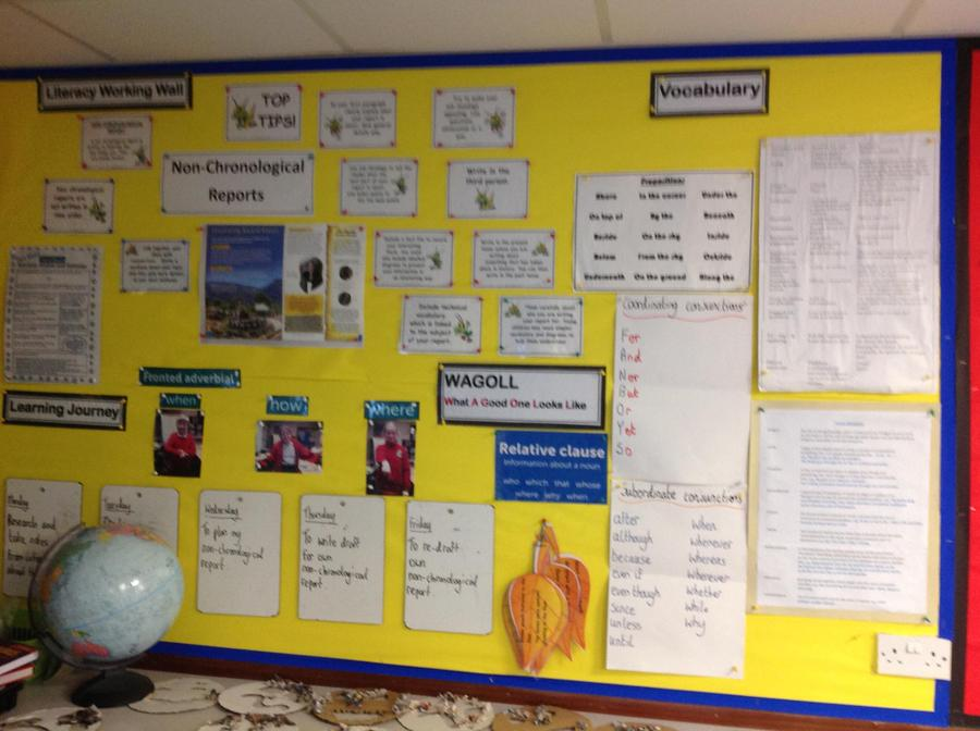 Literacy Working Wall