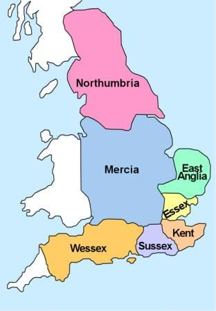 Map of England 515-918