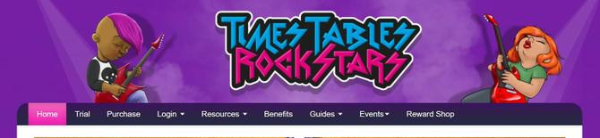 Click on the link for TTRockStars in the Homework section