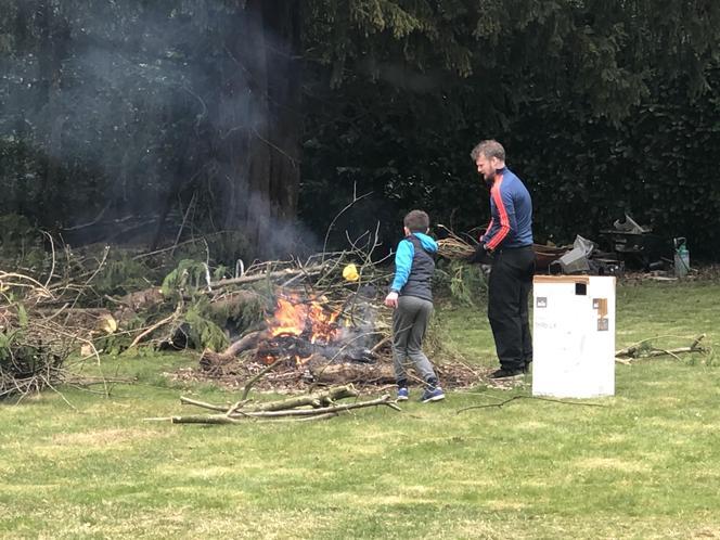 Making a fire!