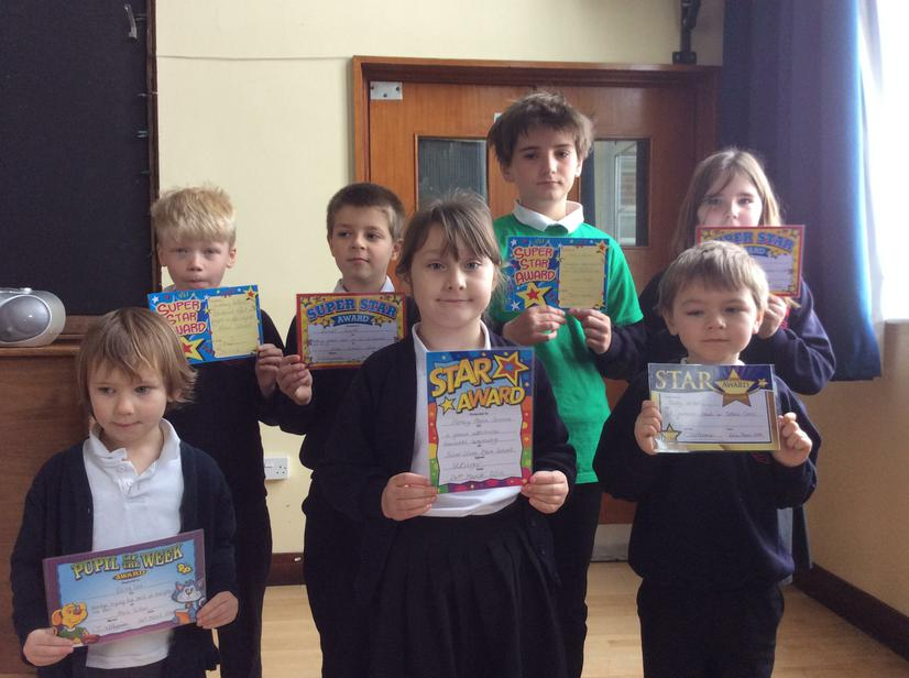 Congratulations to this weeks stars - 24/3/16