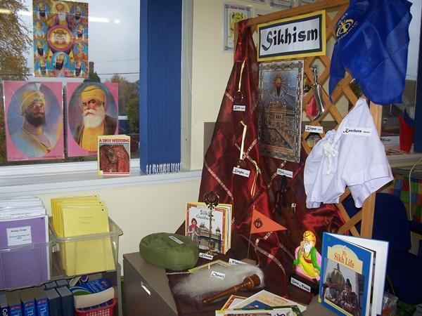 Sikhism Display in Purple