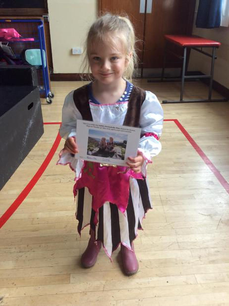 Well done to Edith for climbing the Roman steps.