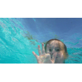 An underwater hello from Becky!