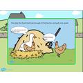 Poppy retold the story of 'Farmer Duck'.