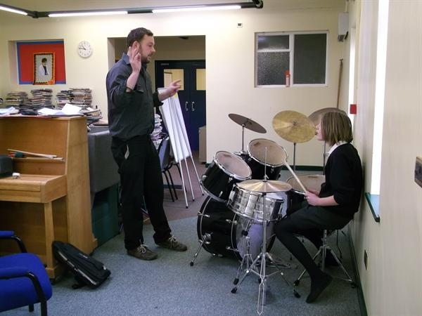 A drum lesson with Mr Ollie Turner