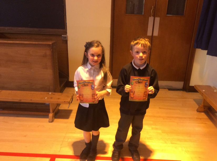 Congratulations to Silver and Yellow class - Classes of the week.