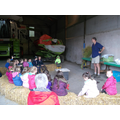 Farmer Keith telling us about his wheat crop.