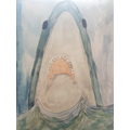 Ollie's shark drawing.Thank you for your story too