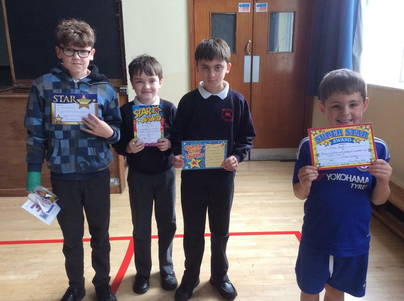 Well done to the stars this week 27/05/16