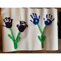 Hand Print Flowers by Ciaran