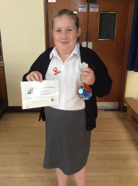 Well done to Jess for winning the Bingo Challenge