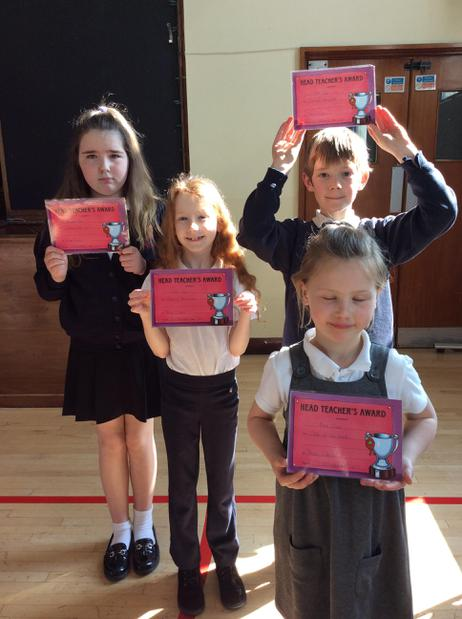 Headteacher Award- Purple,Red,Gold and Blue