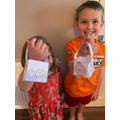 Easter baskets by Ciaran and his sister