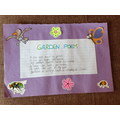 Garden Poem by Evie