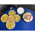 Miss Hanby brought some amazing french cheeses and ham for us to try on our crepes