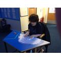 Fabulous mark making and sensory exploration!