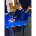 Exploring different materials and mark making