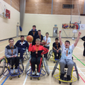 Our pupils first try of Wheelchair Basketball