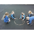 Art in nature, inspired by Anthony Goldsworthy
