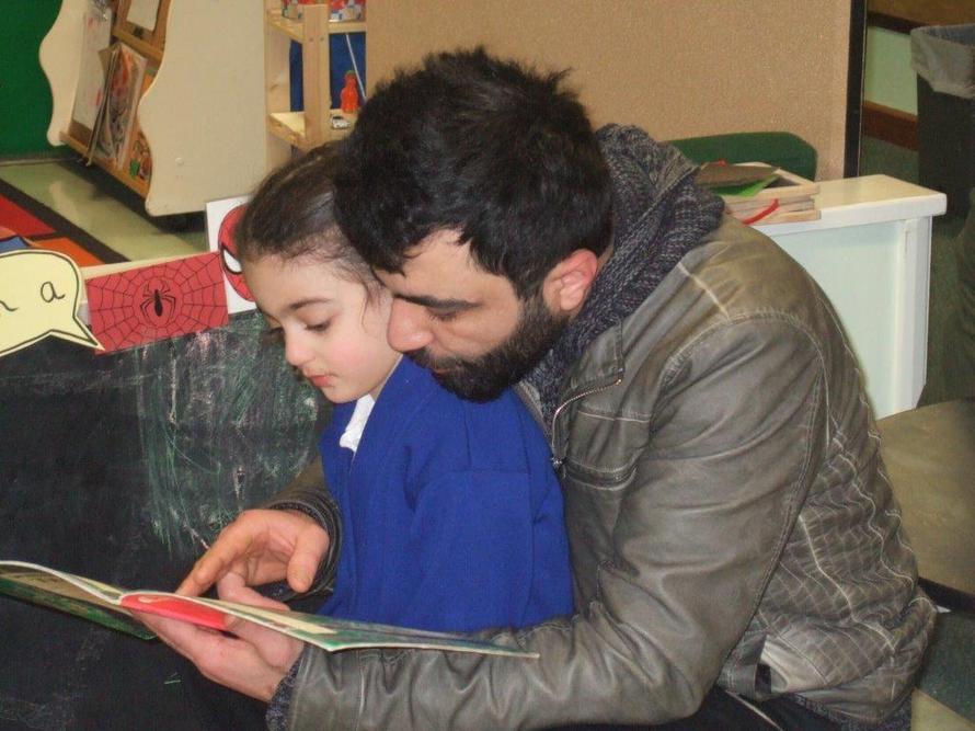 Our children love sharing books.